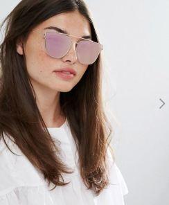 ALDO Chelirien Rose Gold Mirror Sunglasses $17.00 - asos